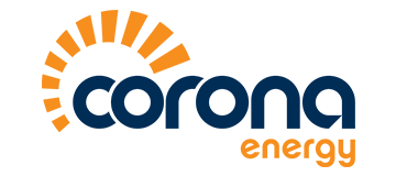 corona energy logo with transparent background