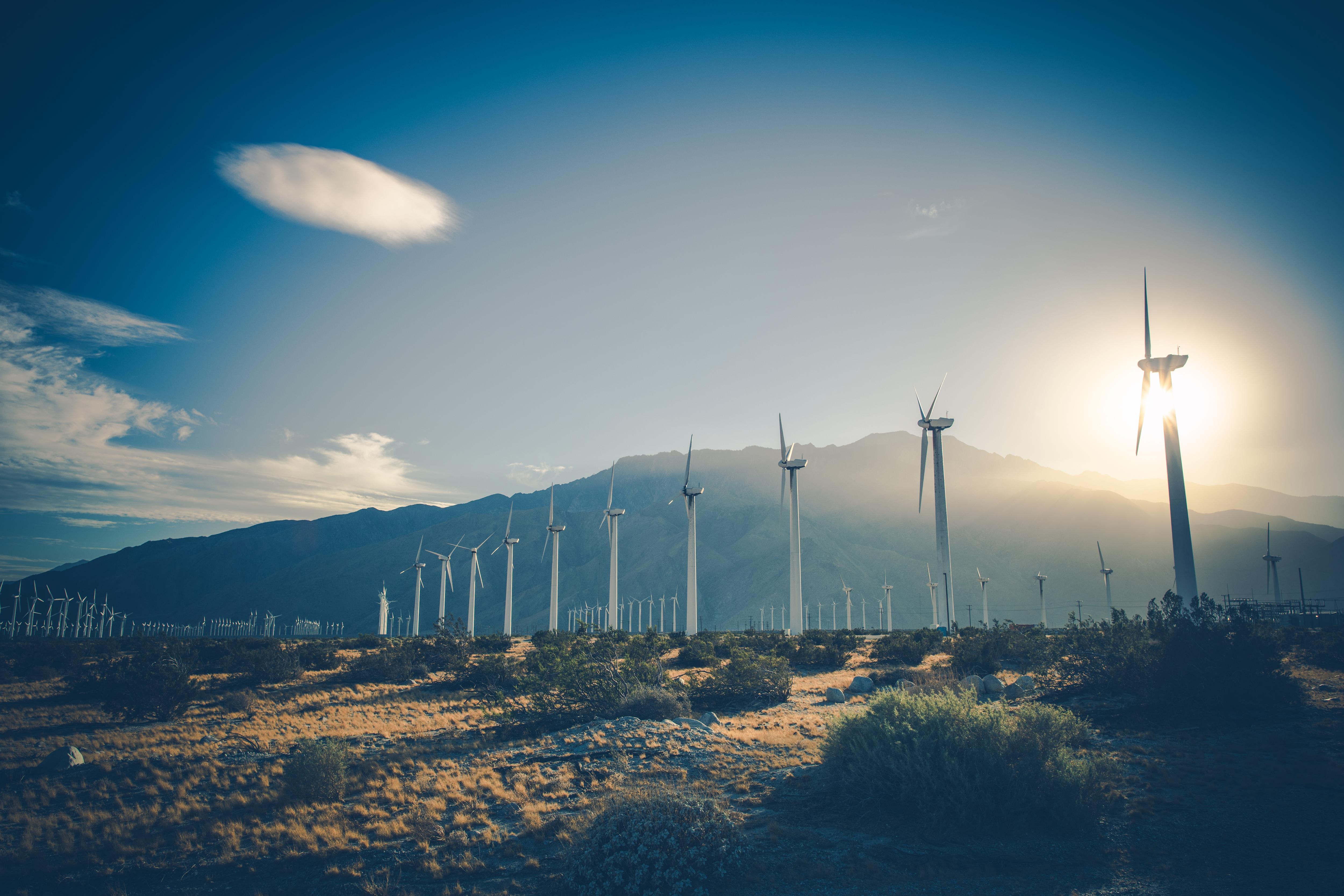 California Renewable Energy wind turbines