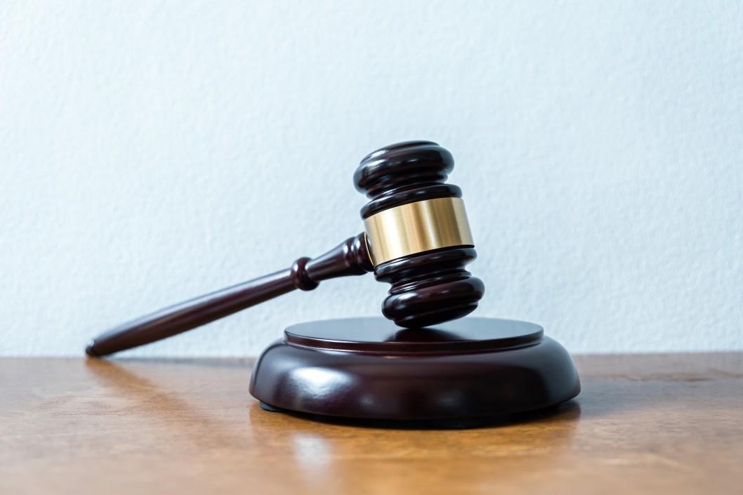 gavel on a desk guilty
